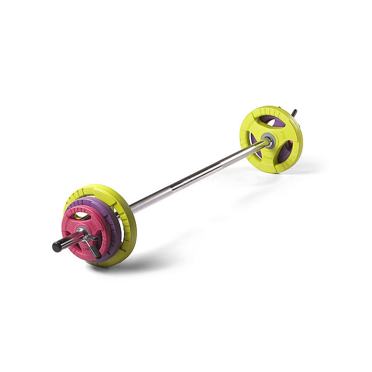 Studio Pump Set (Chrome Bar / Coloured Discs)