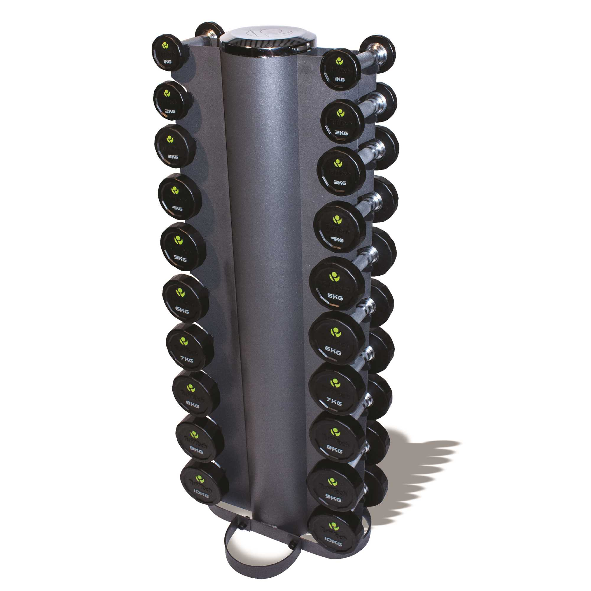 1kg - 10kg Rubber Dumbbell Set & Vertical Rack