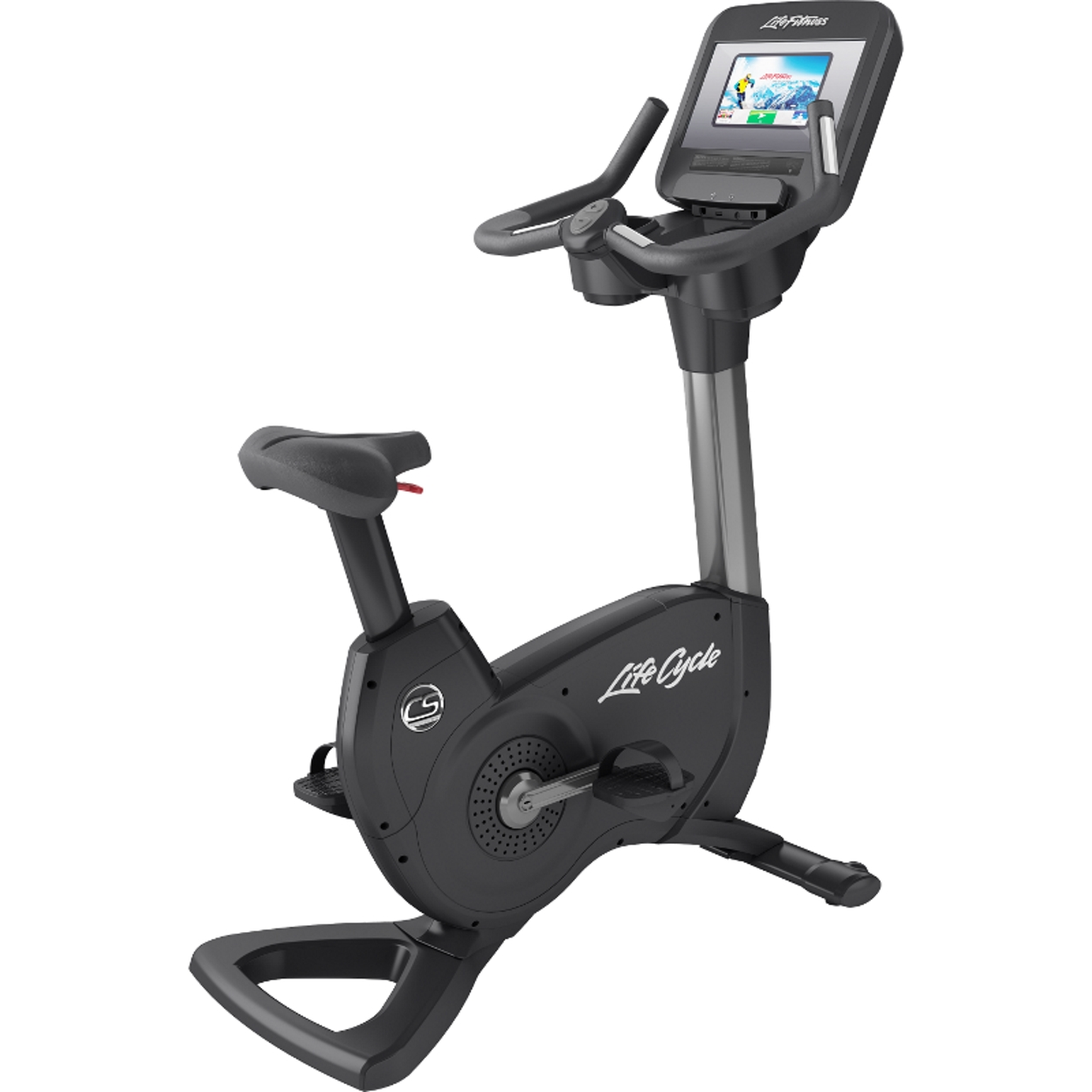 Life Fitness Platinum Club Series Upright Bike (Discover SI) Arctic