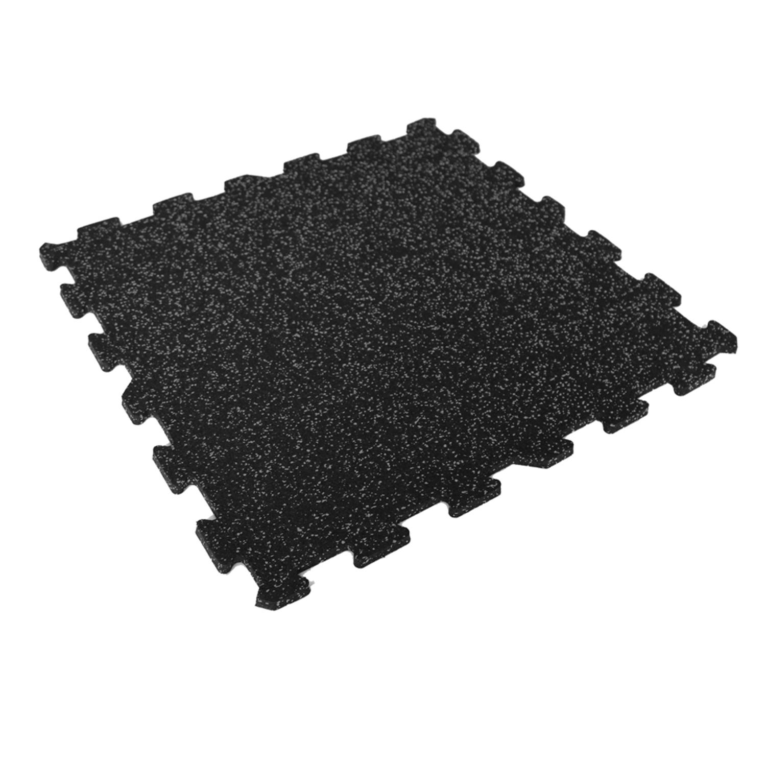 Black & Grey Fleck Rubber Flooring Straight Edge