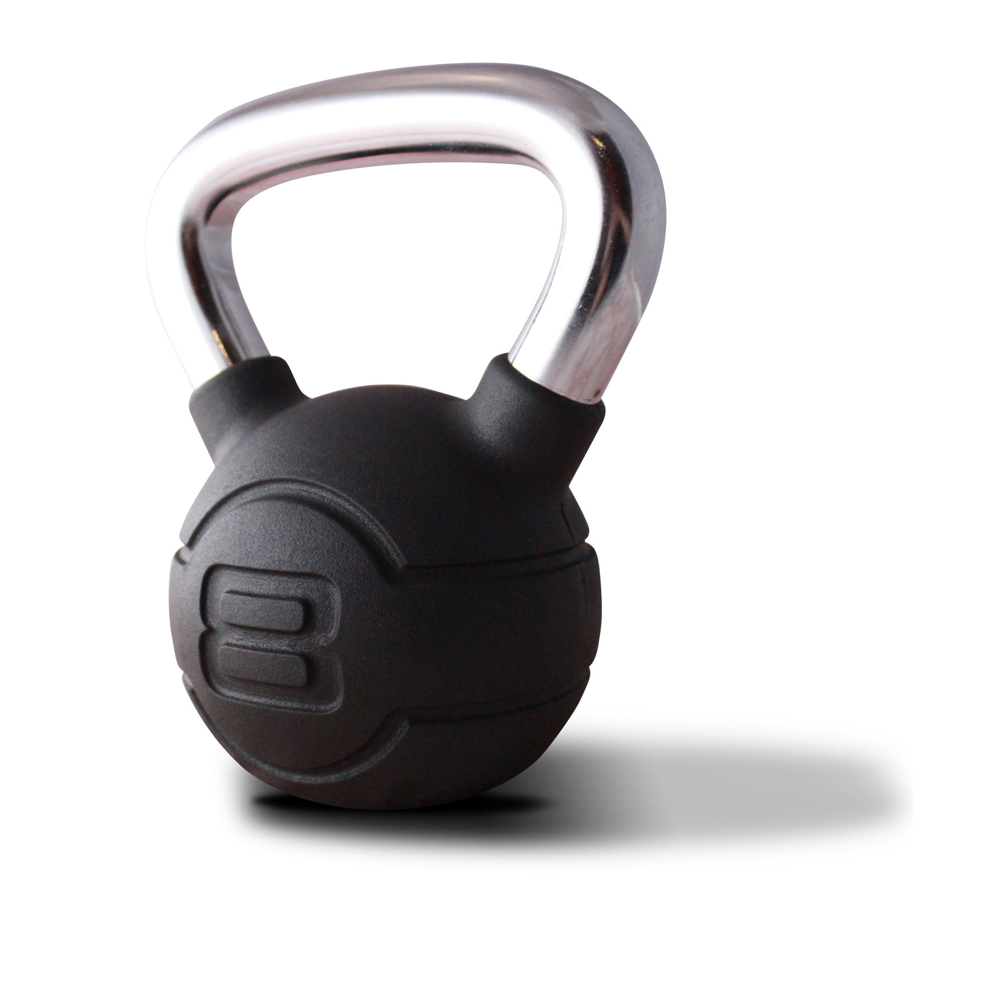 Jordan Black Rubber & Chrome Kettlebell 8kg