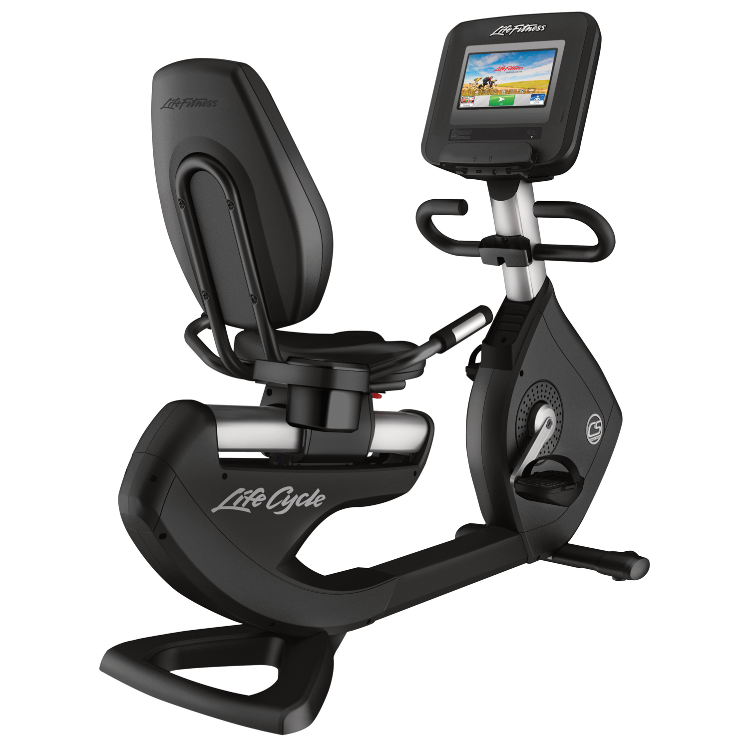 Life Fitness Platinum Club Series Recumbent Bike (Discover SI) Arctic