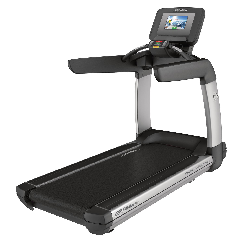 Life Fitness Platinum Club Series Treadmill (Discover SI) Arctic
