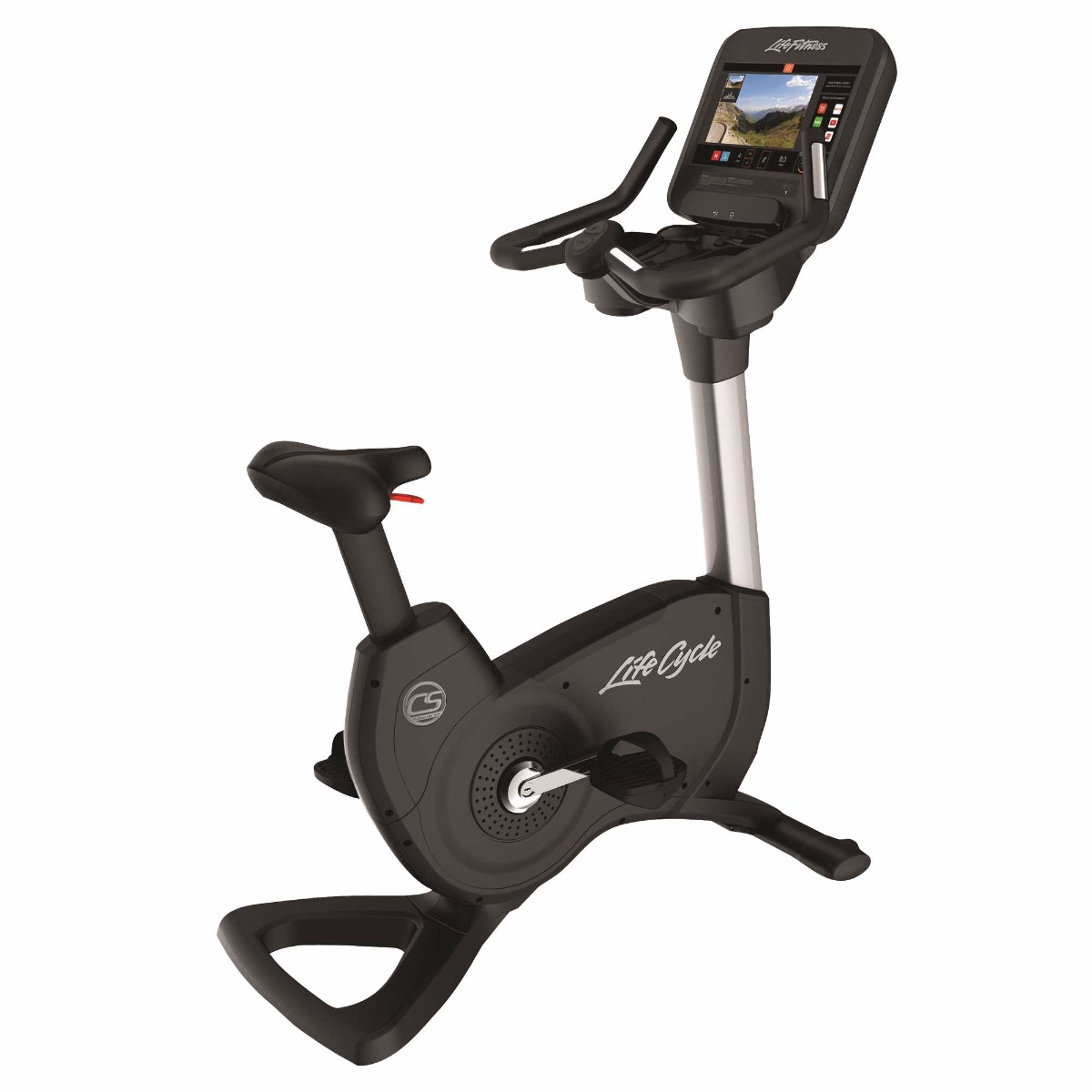 Life Fitness Platinum Club Series Upright Bike (Discover SE3 HD) Arctic