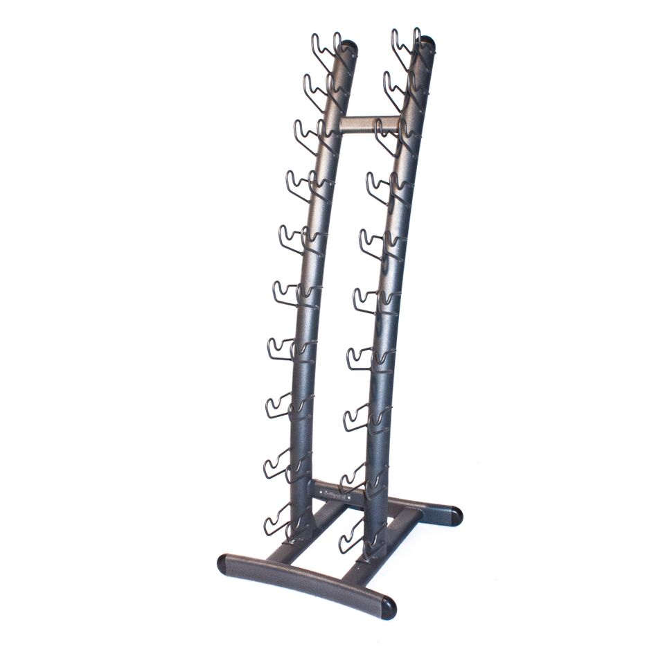 Upright Dumbbell Rack with 10 pairs Rubber Dumbbells (1-10kg)