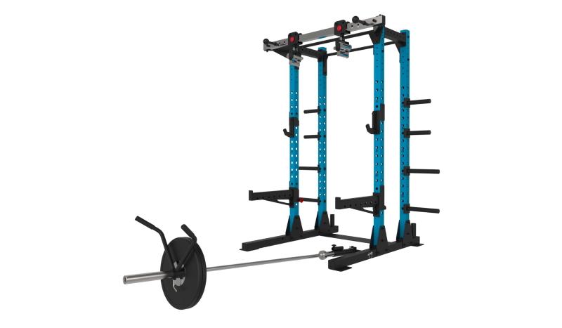 blue half rack