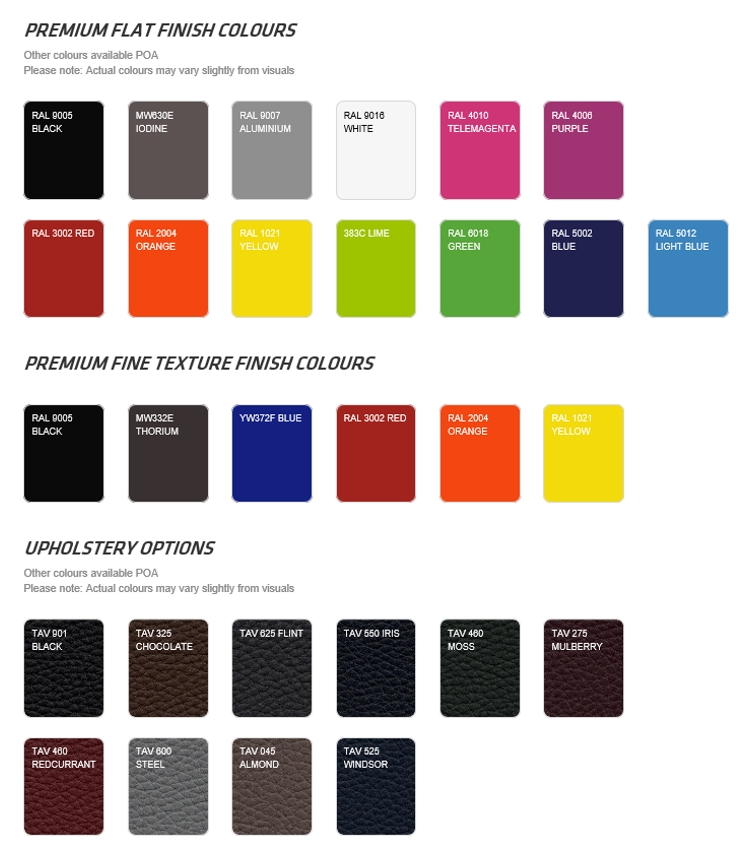 exigo colour swatch