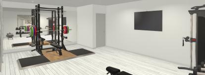 garden gym design render
